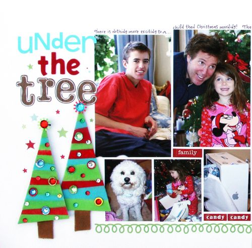 Under the tree one