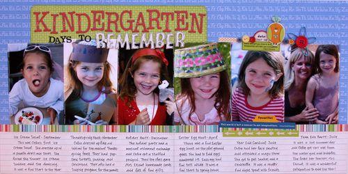 Kindergarten days to remember