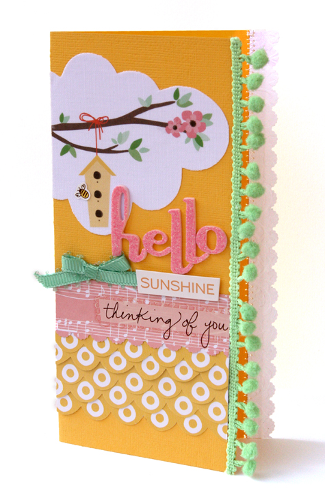 Hello sunshine card september blog