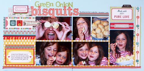 Green onion bisquits
