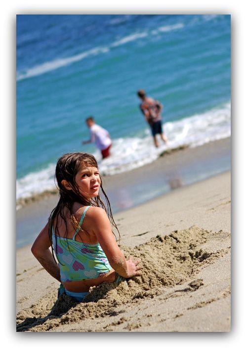 Chloe on beach