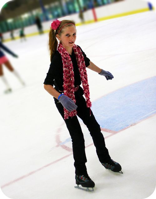 Sophie ice skating