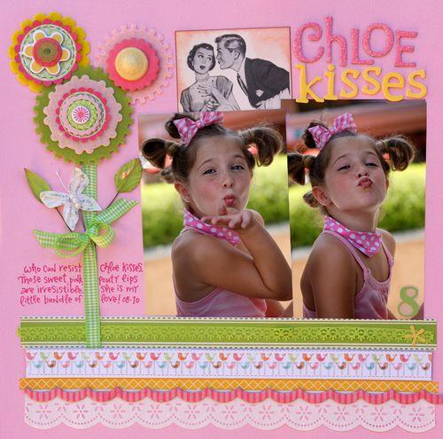 Chloe kisses
