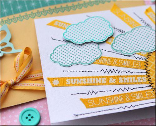 Sending a smile card close up