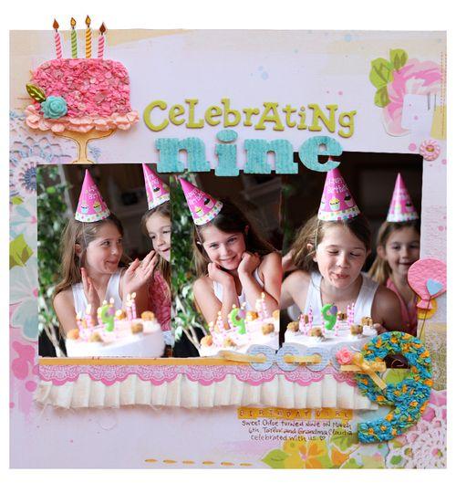 Celebrating nine