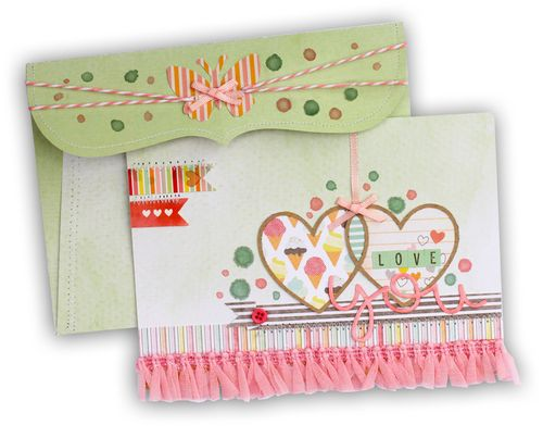 Love you card and envelope