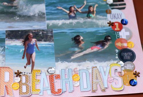 Summer beach days close up