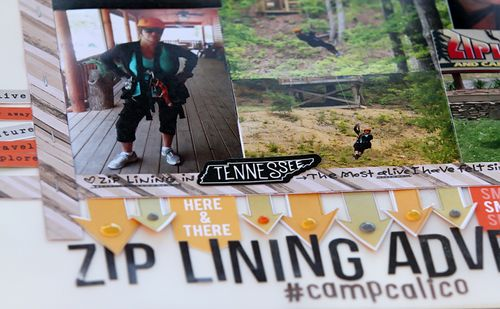 Zip lining adventure close up 1