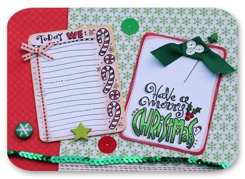 Christmas project life cards 3
