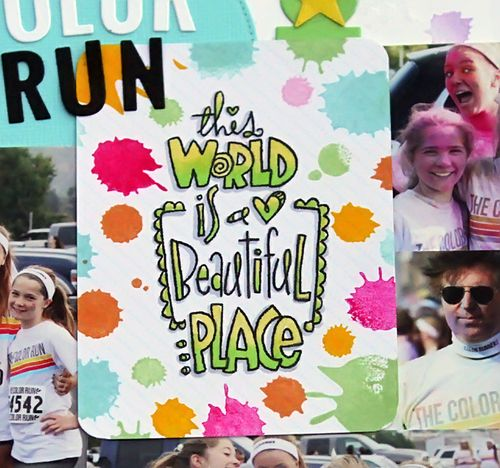 Color run close up