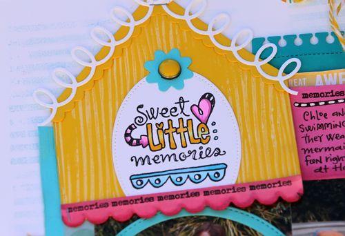 Sweet little memories layout close up 1