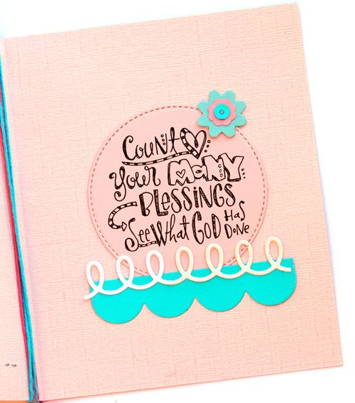 Count your many blessings card inside
