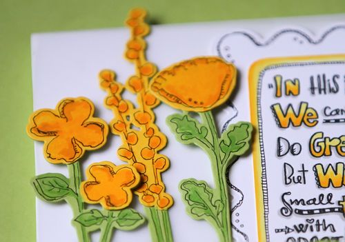 Flower card close up 1