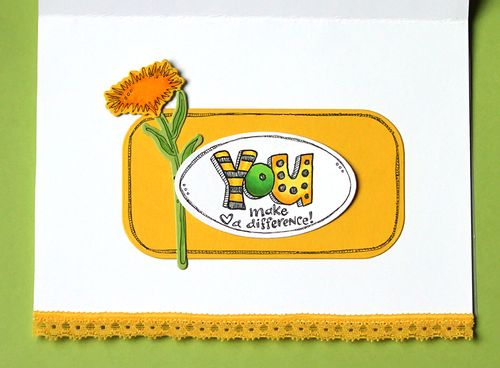 Flower card inside