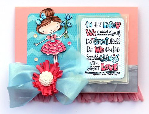 Girl flower card
