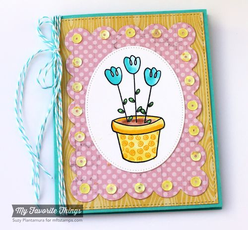 Spring boquet card