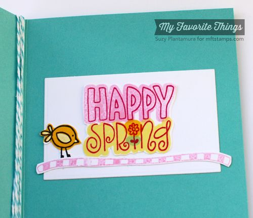 Spring boquet card inside