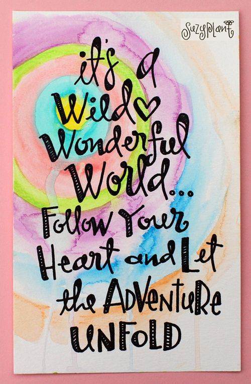 A wild wonderful world