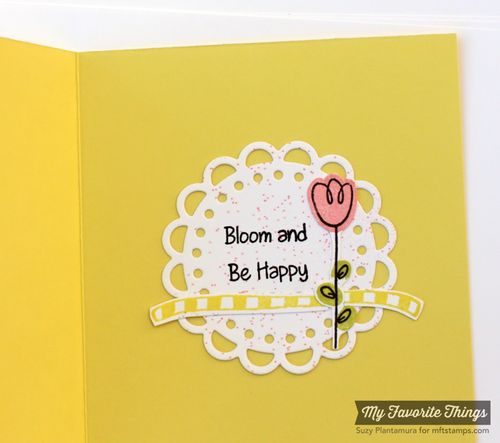 Be happy spring card inside