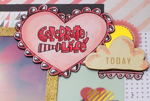 Celebrate life layout with borders 1