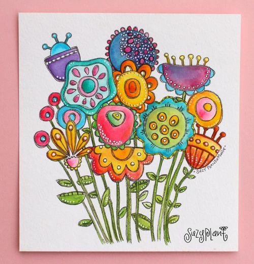 Funky flowers