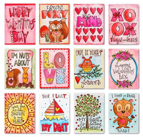 Valentine's day card index color