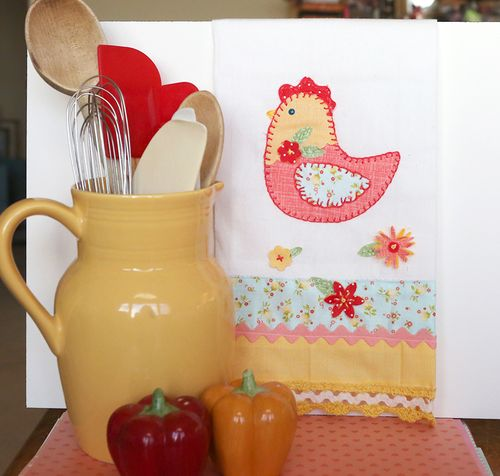 Rooster dish towell 4