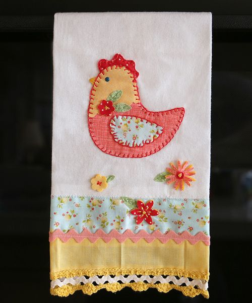 Rooster dish towell 2
