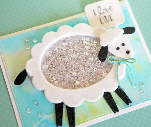 I Love Ewe Card Close Up