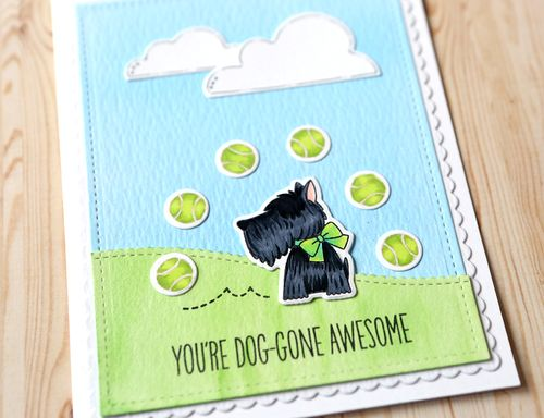You're Doggone Awesome Card Close Up