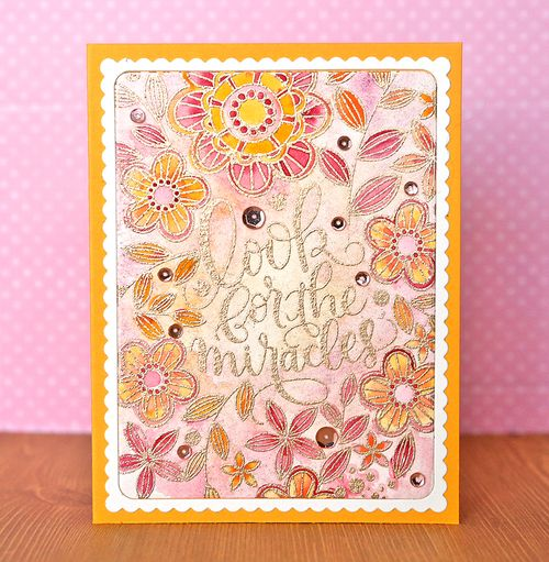 Card 1 with sequins