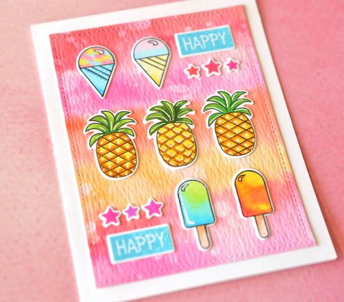 Happy happy card close up