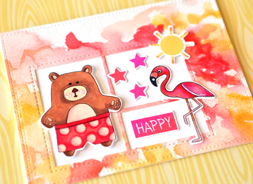 Happy card close up