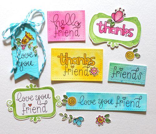 Stamp set tags