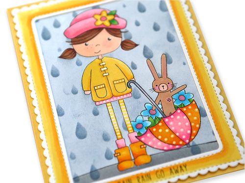 Rain Rain Go Away Card Close Up