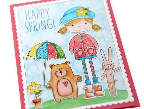 Happy Spring Card 1 close up