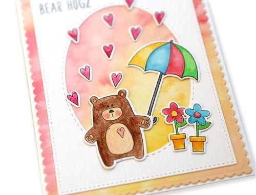 Bear Hugz Card close up