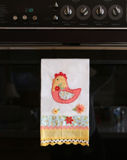 Rooster dish towell 1