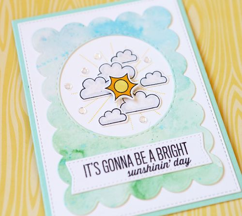 It's Gonna Be A Sunshiny Day Card close up
