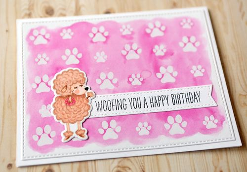 Woofing You a Happy Bday Card Close Up