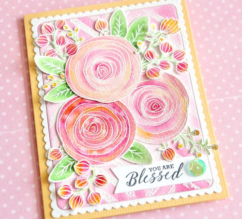 You Are Blessed Card Close Up