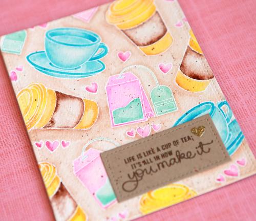 Life is like a cup of tea close u[