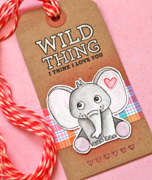 Elephant tag close up