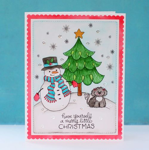 Holiday stamps card two