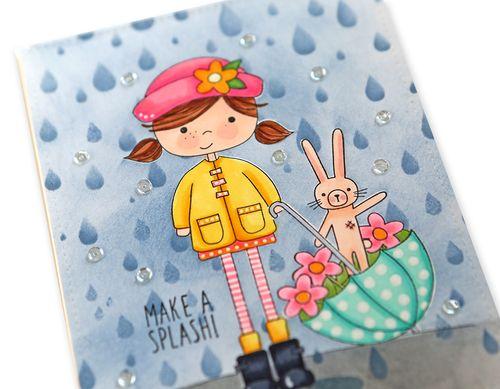 Make a Splash Card close up