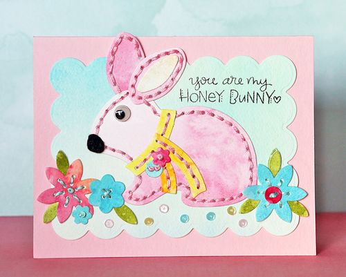 You Are My Honey Bunny Card