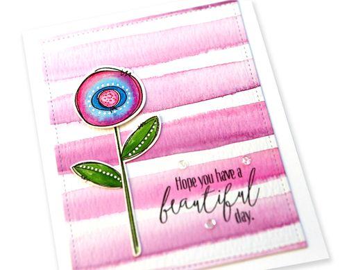 Beautiful Day Card close up