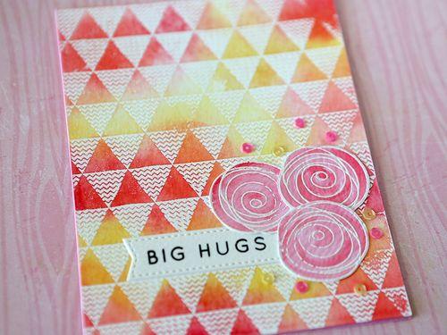 Big Hugs Card Close Up