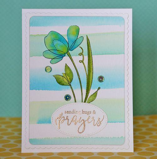 Sending hugs and prayers card