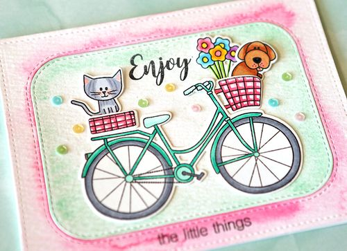 Enjoy the little things card close up